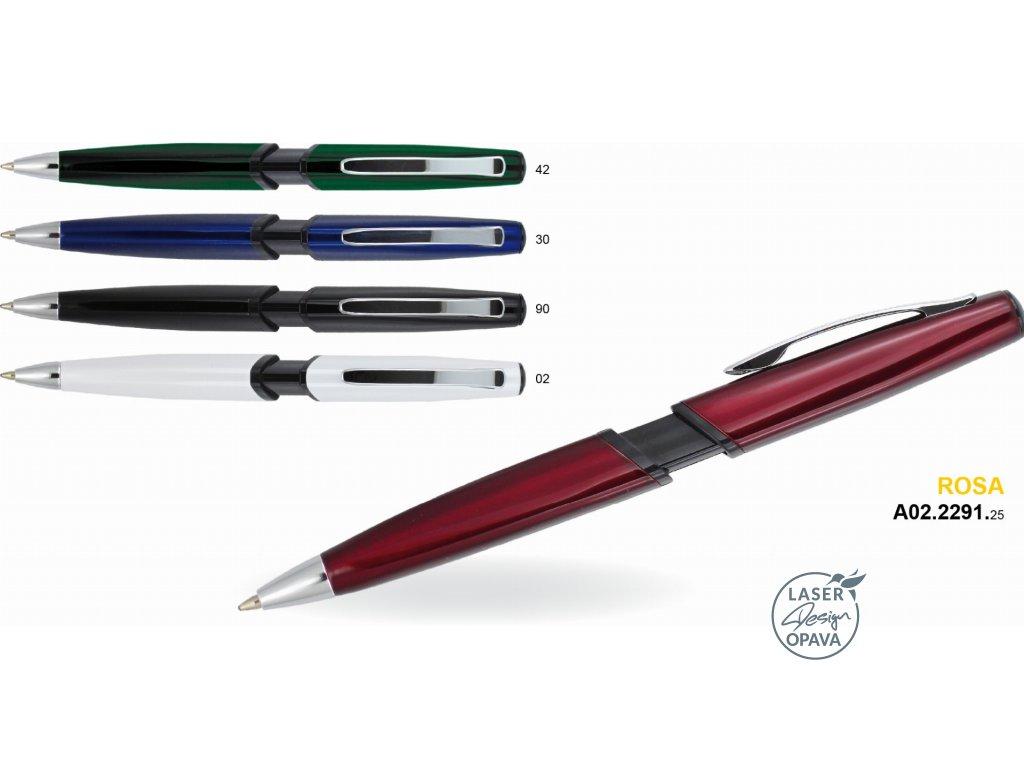 Kovové kuličkové pero Rosa