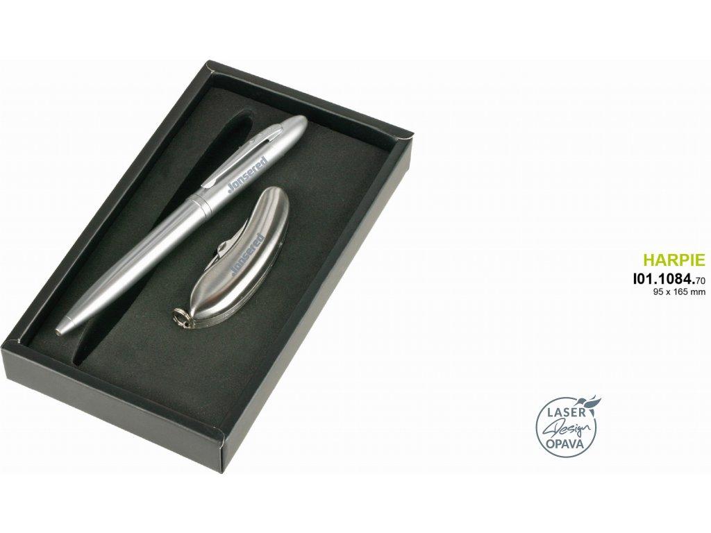 Kuličkové pero a kapesní nůž Harpie