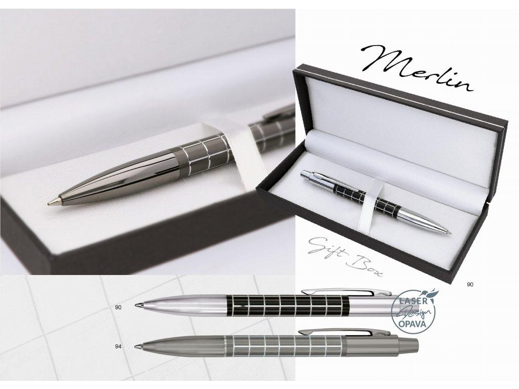Luxusní kovové kuličkové pero Merlin