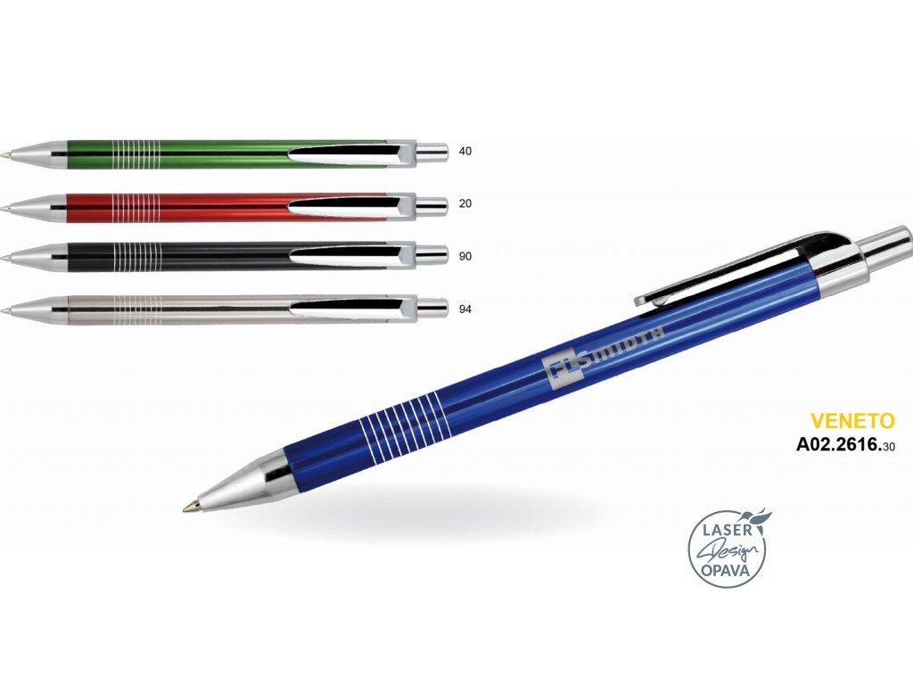 Hliníkové kuličkové pero Veneto