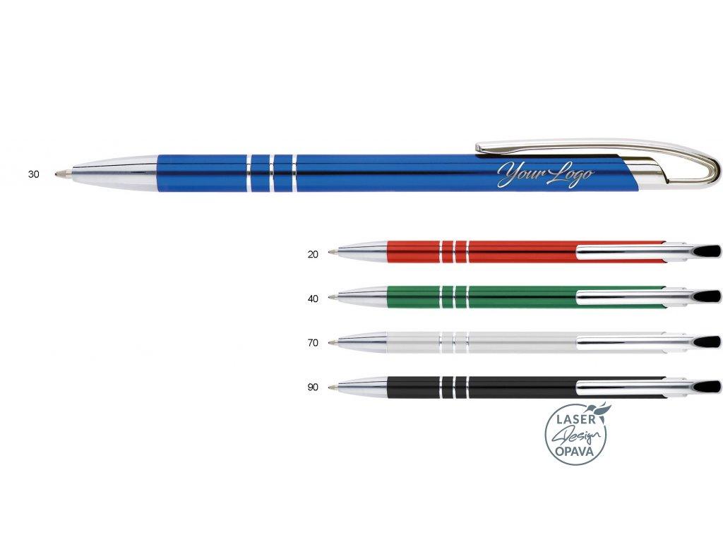 Hliníkové kuličkové pero Deano