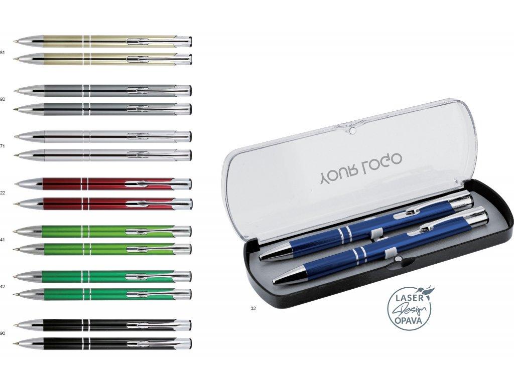 Sada hliníkové kuličkové pero a mikrotužka Solomon