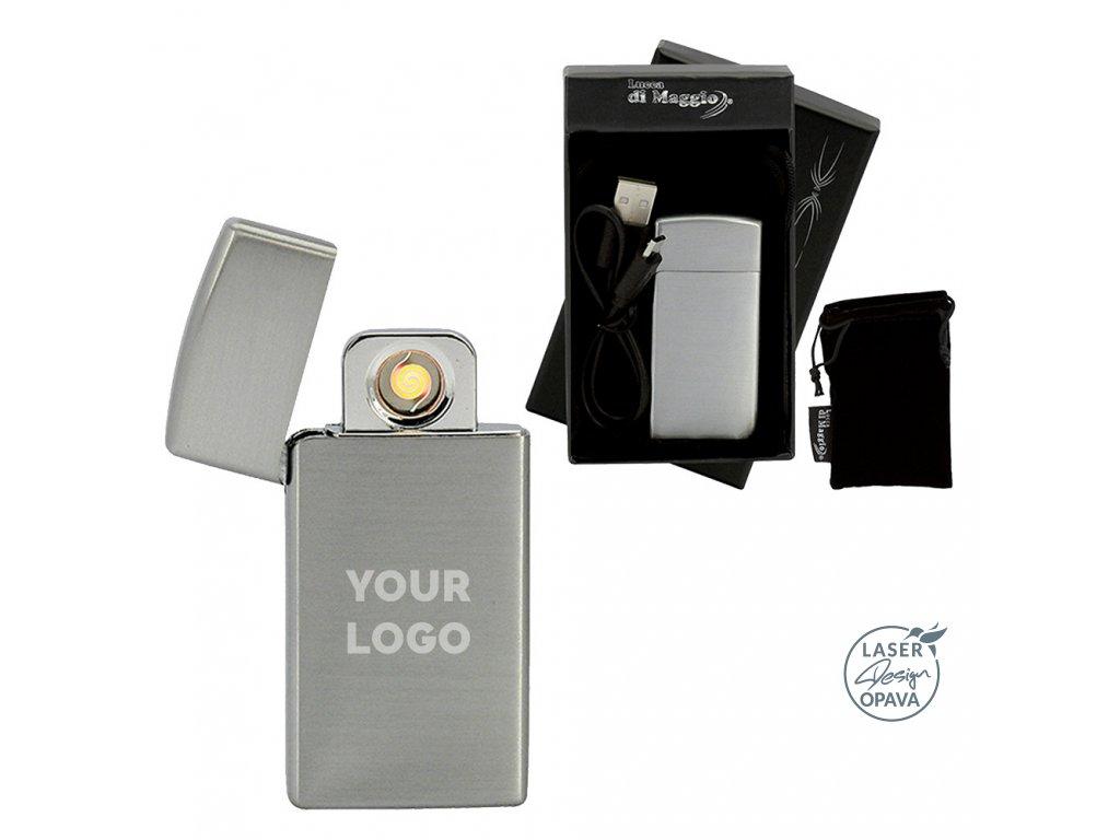 Kovový nabíjecí USB zapalovač Nos II
