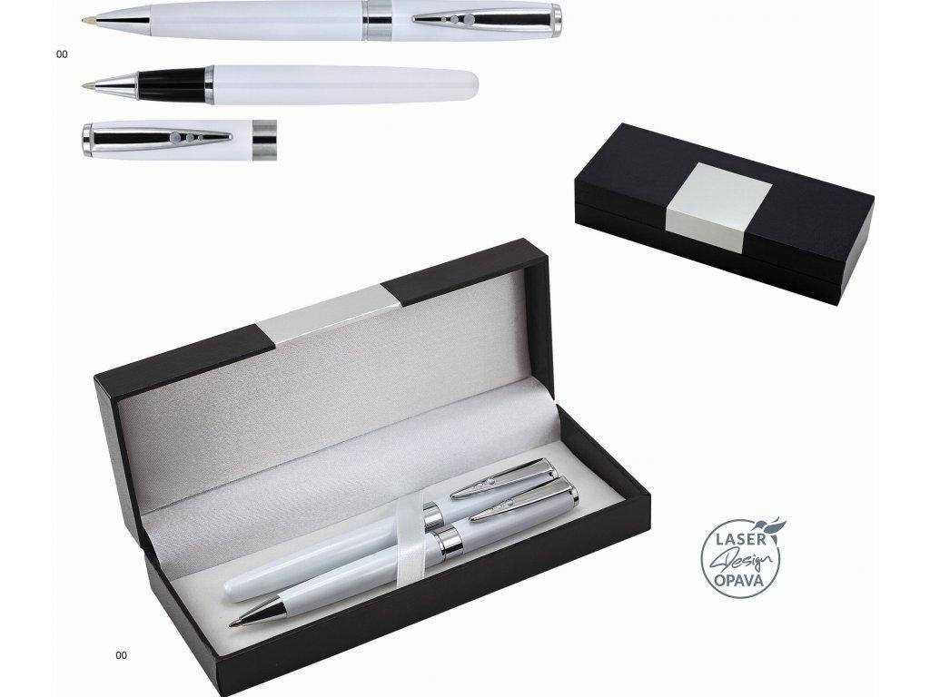 Sada kovové kuličkové pero a roller Maisie