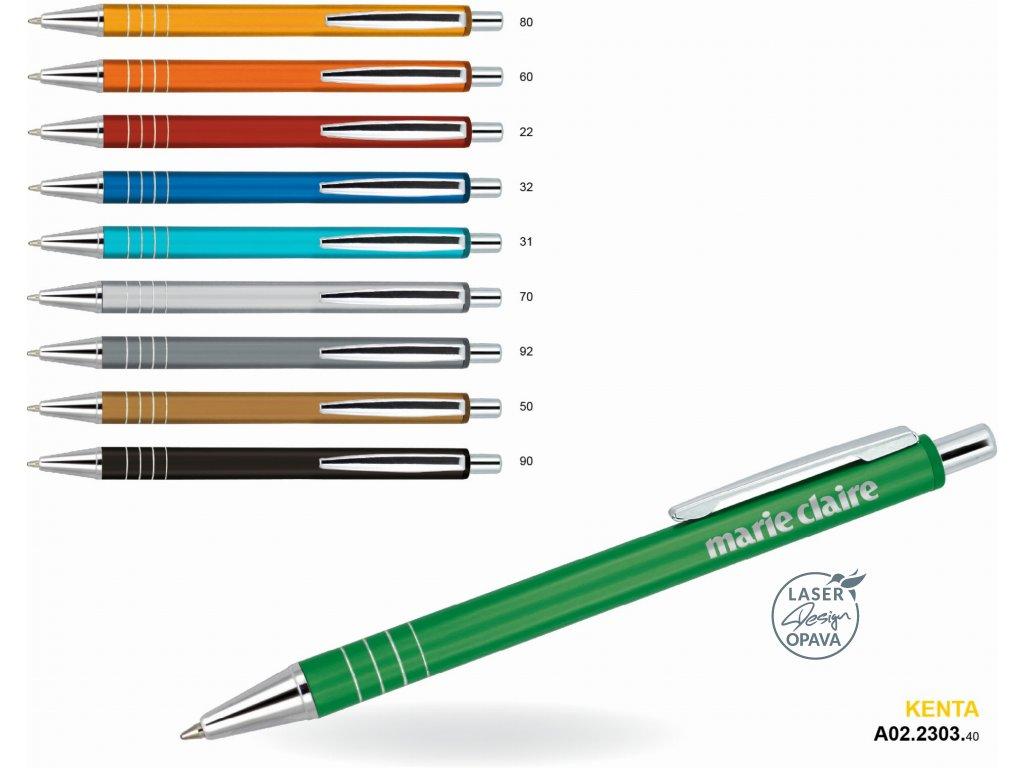 Hliníkové kuličkové pero nebo mikrotužka Latera