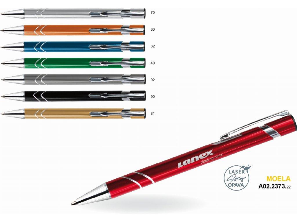 Hliníkové kuličkové pero Moela