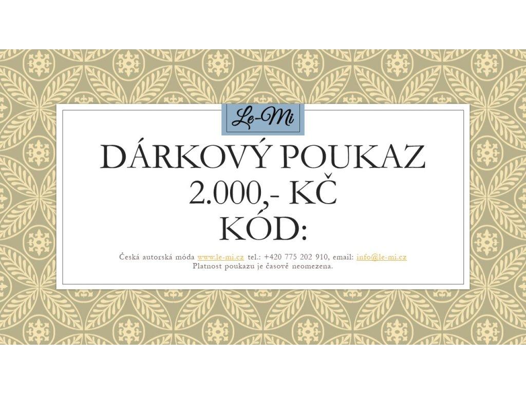 Dárkový poukaz na 2000, Kč (Le Mi česká autorská móda)