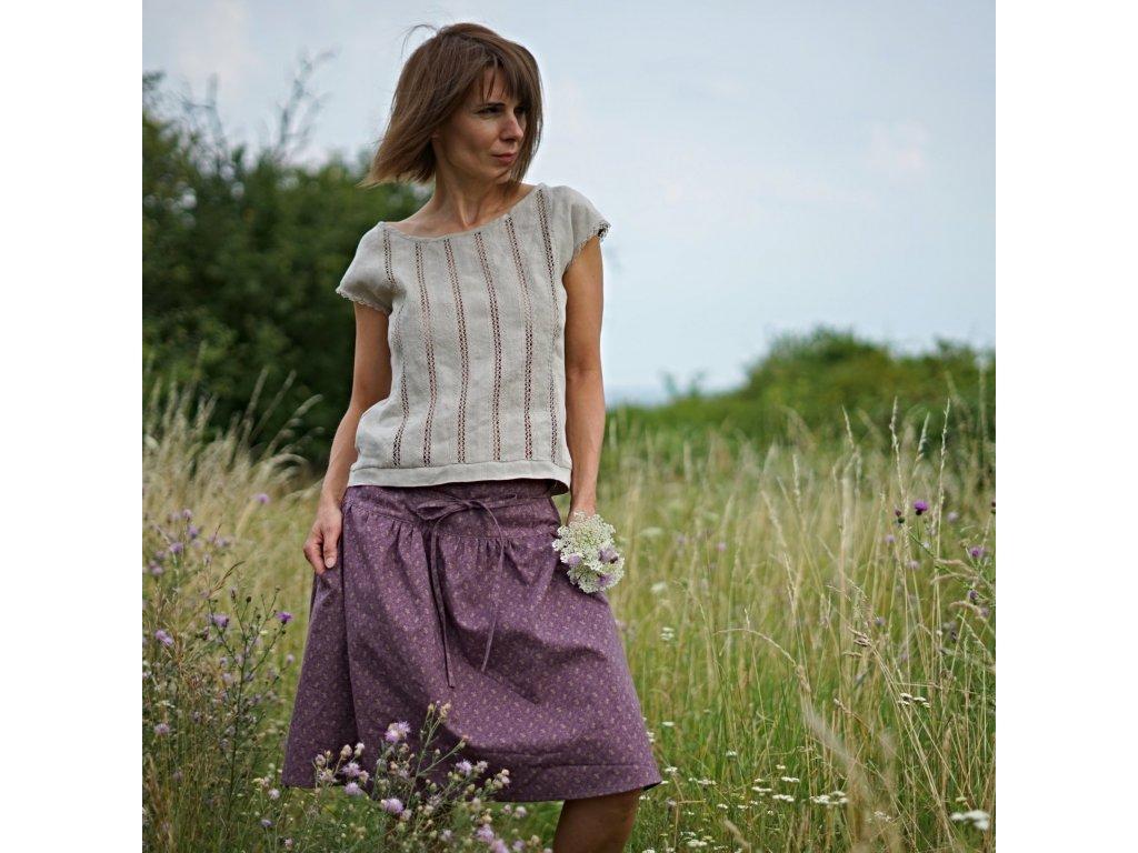 V purpuru sukně III (móda Le Mi)