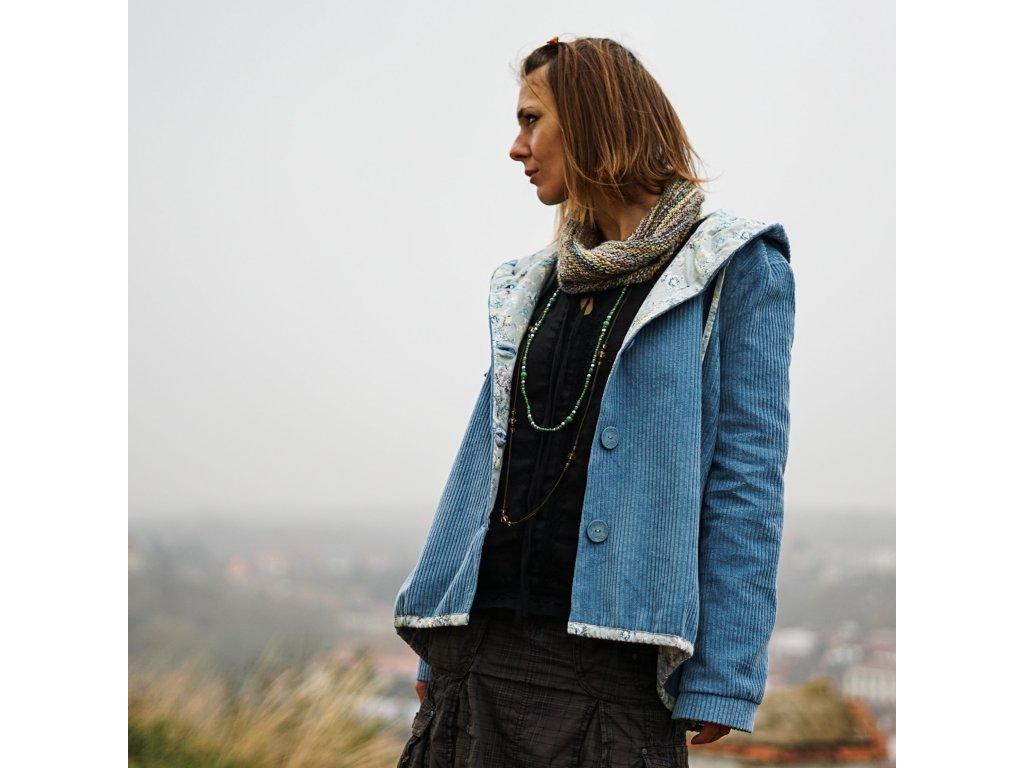 Boho manšestráček s kapucí (Le Mi, česká autorská móda) VI