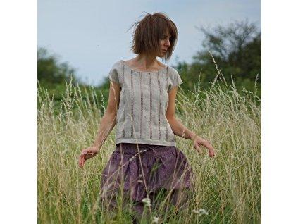 V krajkách lněná halenka VI (móda Le Mi)