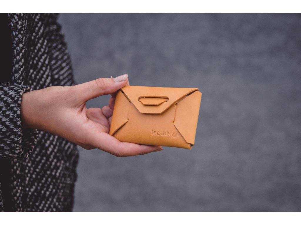 Kožená minipeněženka ID