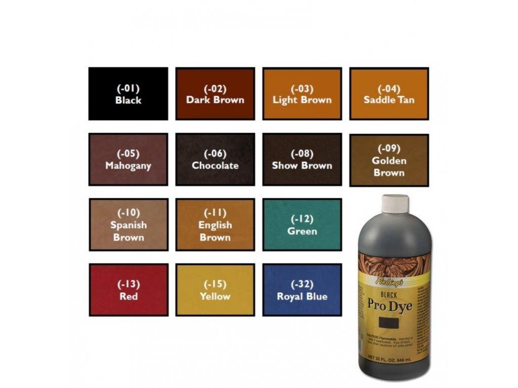 Barva-na-kuzi-Fiebing's-Leather-Pro-Dye-barevna-paleta