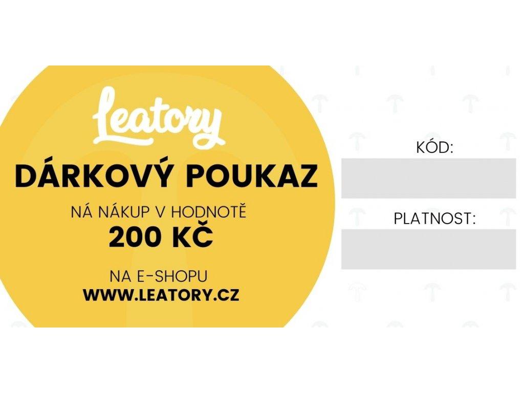 Dárkový poukaz Leatory 200 Kč
