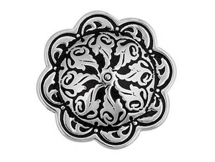 "Končo HorseShoe Floral - černý vzor (Velikost 1"" (25 mm))"