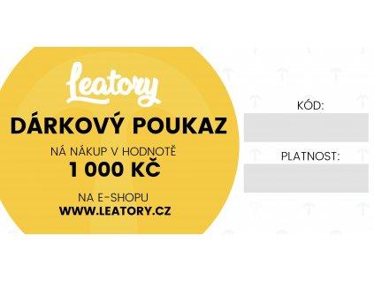 Leatory Darkovy poukaz 1000Kc