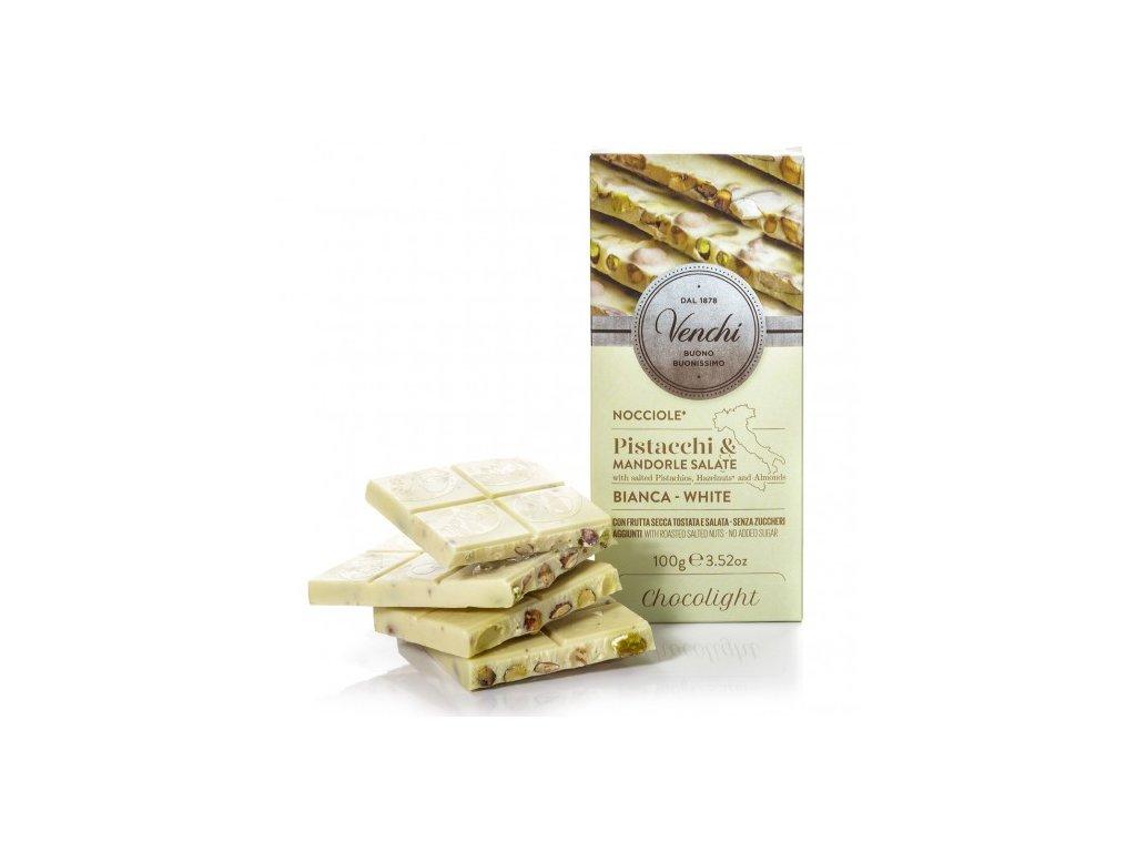 Venchi Cukr free bílá čokoláda s lískovými oříšky