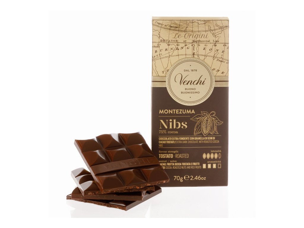Venchi 75procent cokolada boby