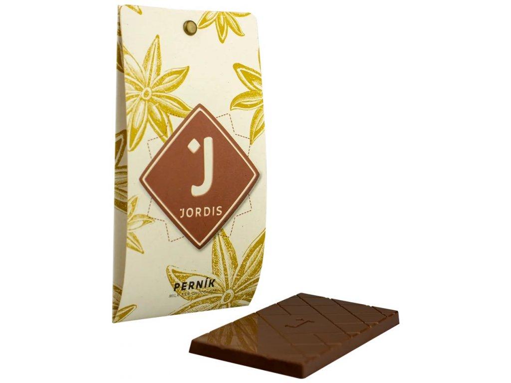 Jordis mléčná čokoláda pernik