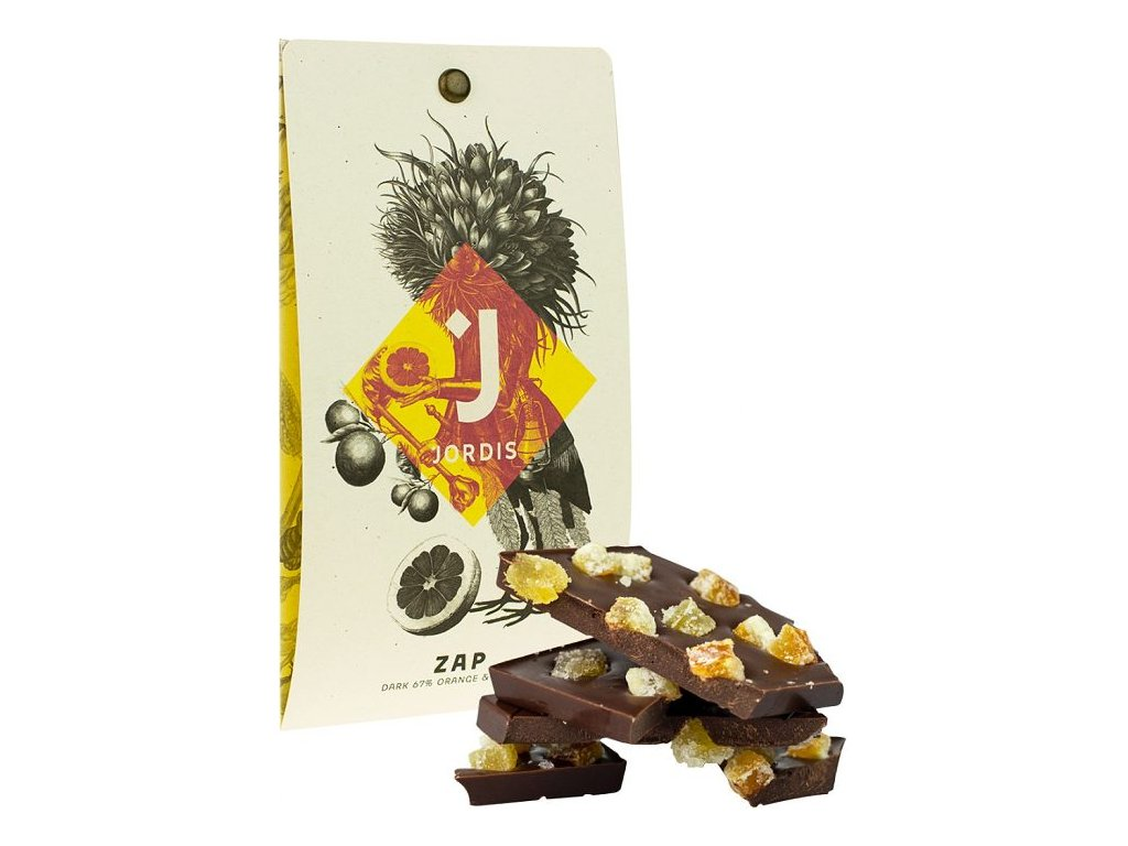Jordis čokoláda se zázvorem