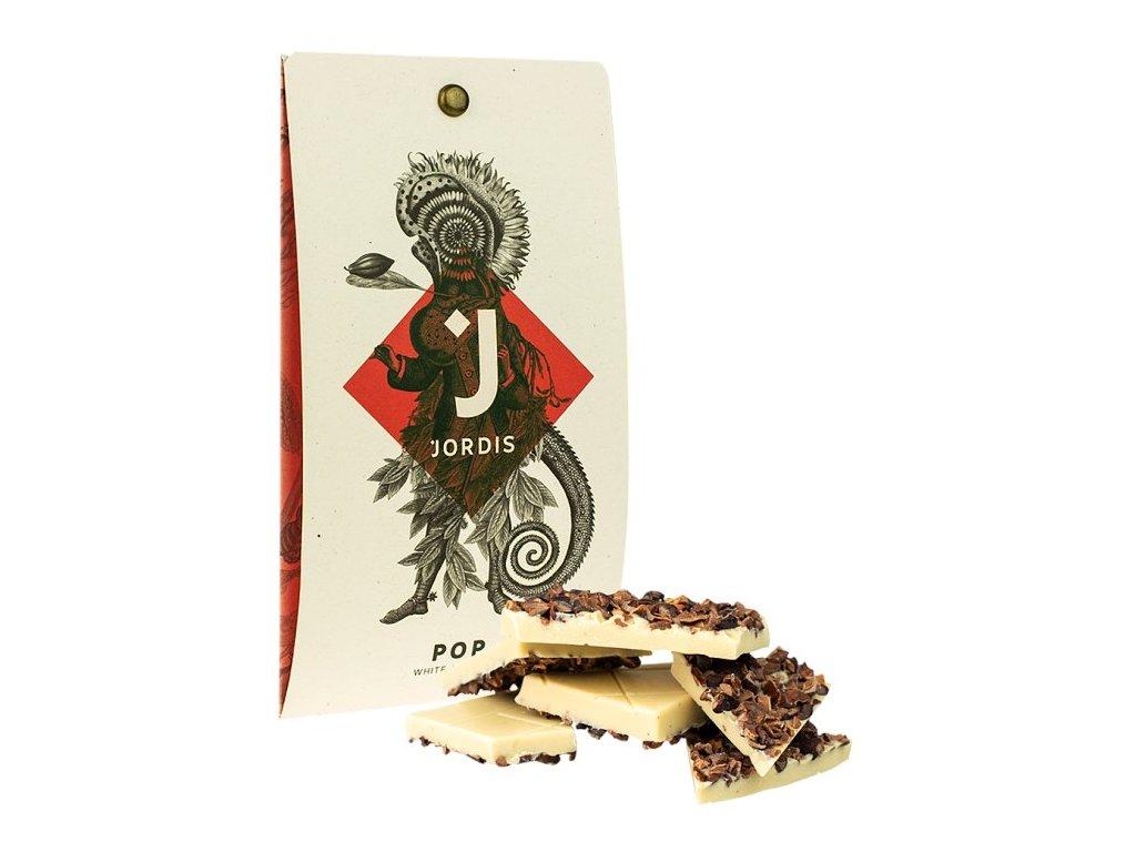 Jordis bílá čokoláda s kakaovými boby