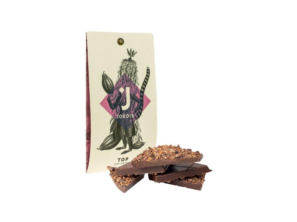 Jordis tmavá čokoláda s kakaovými boby