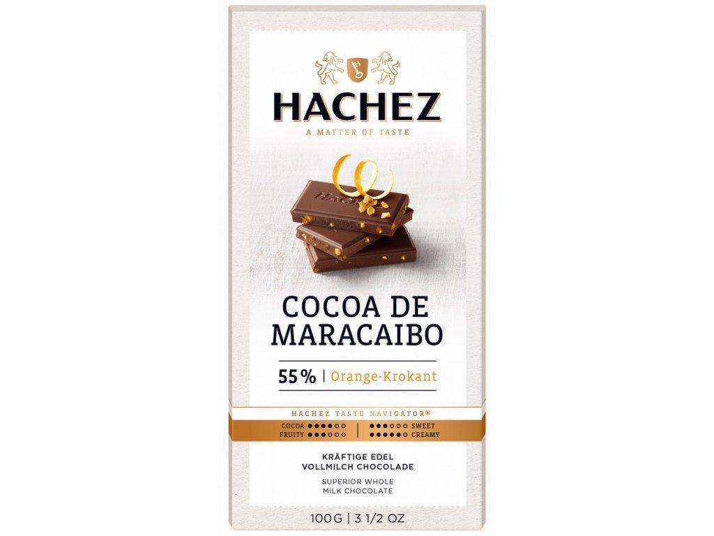 cokolada Hachez mlecna 55 Maracaibo pomeranc