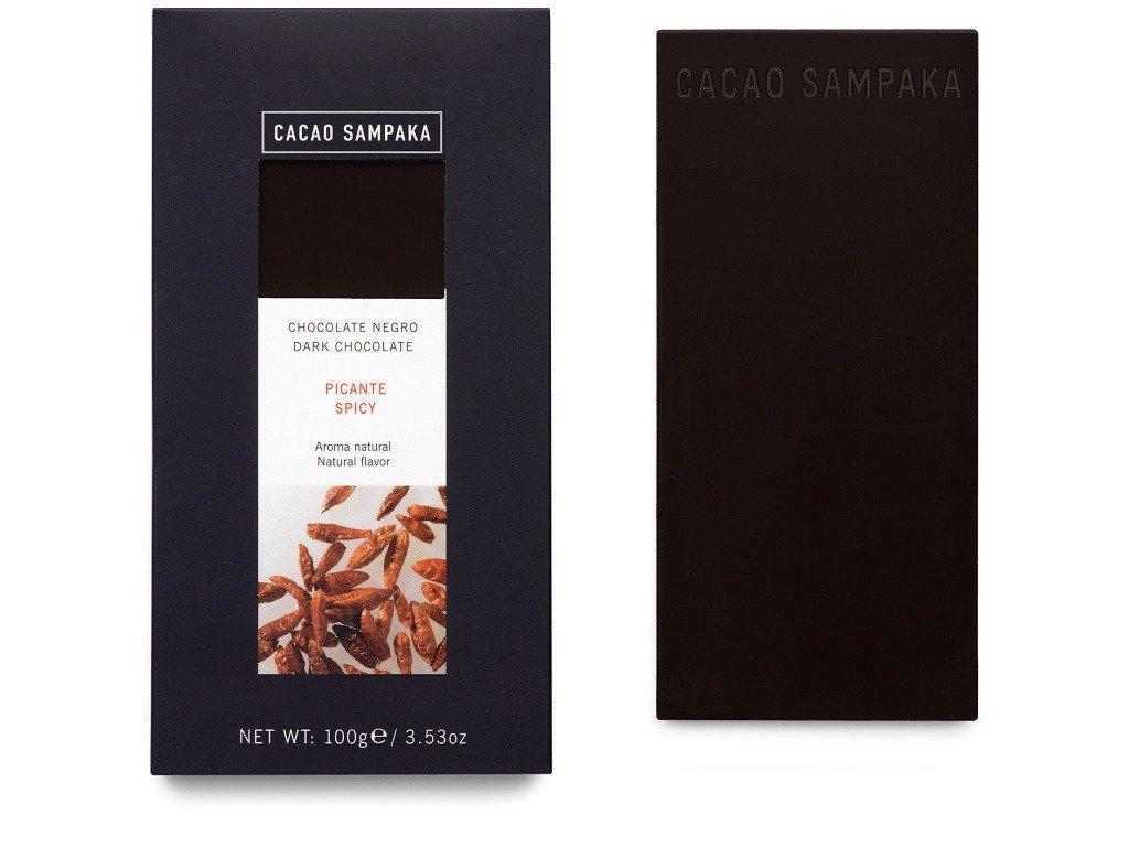 Cacao Sampaka chilli & skořice