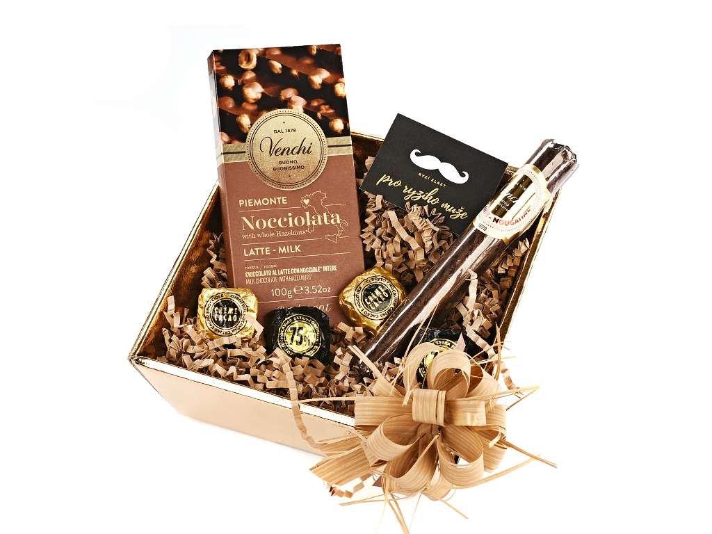 Dárkový balíček pro muže mléčná čokoláda