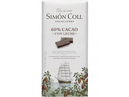 Simon Coll mlecna cokolada 60 kakao