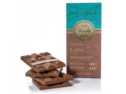 Venchi cokolada mlecna Venezuela 70g
