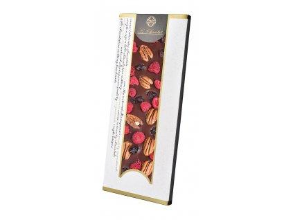 Le Chocolat cokolada maliny pekany