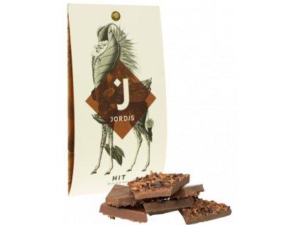 Jordis mléčná čokoláda s kakaovými boby