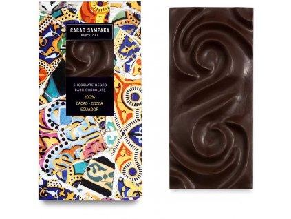 Cacao Sampaka hořká čokoláda 100% cocoa Ecuador 75g