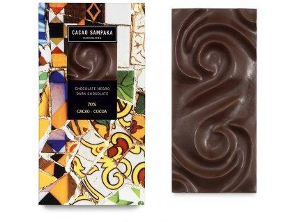 Cacao Sampaka hořká čokoláda 70% cocoa 75g