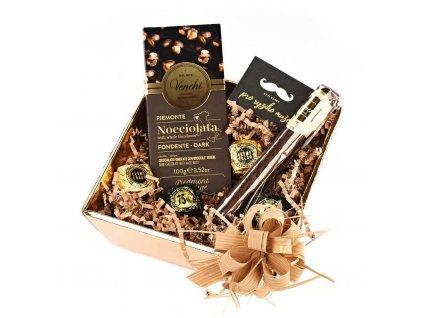 Dárkový balíček pro muže hořká čokoláda