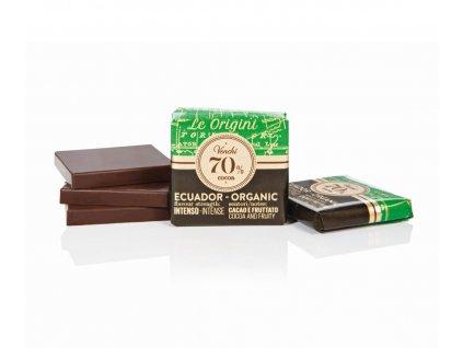 909 venchi ctverecek grandblend bio 70 cocoa ecuador 1 ks