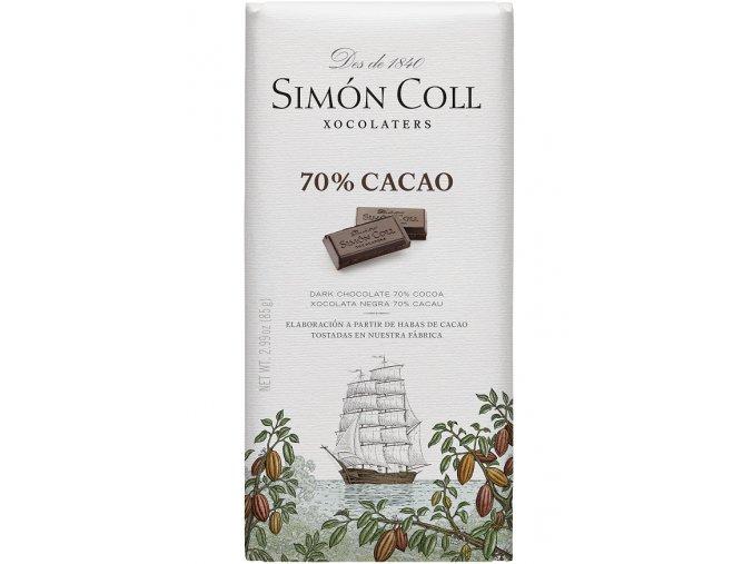 Simon Coll cokolada 70 kakao