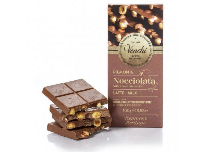 Venchi mléčná čokoláda s lískovými oříšky