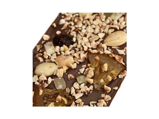 Le Chocolat mléčná čokoláda s ořechy, citrusy a brusinkami 110g