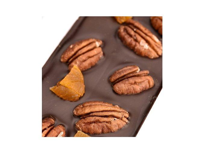 Le Chocolat tmavá čokoláda s pekany a meruňkami 110g