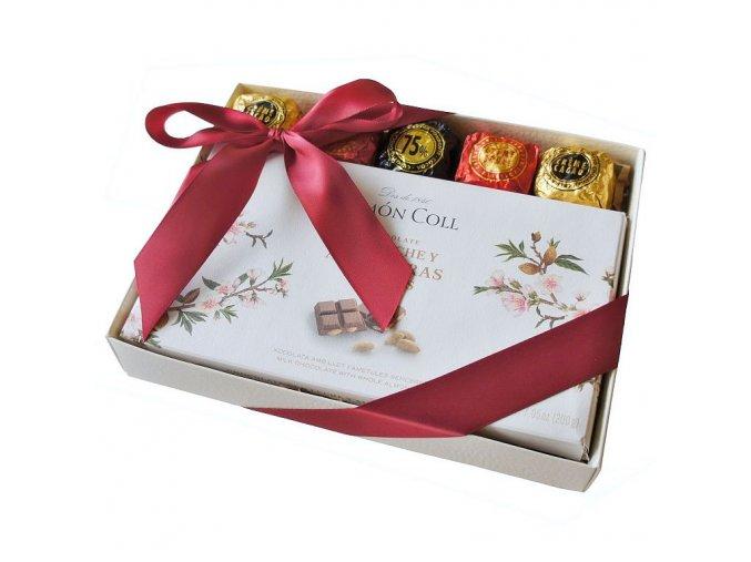 Dárkový balíček s mléčnou mandlovou čokoládou