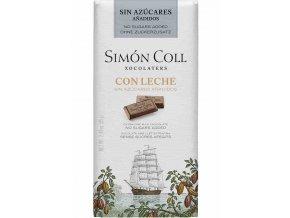 Simon Coll mlecna cokolada bez cukru