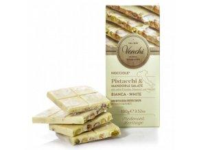 Venchi bílá čokoláda s lískovými oříšky