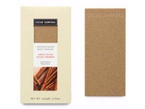 Cacao Sampaka bílá čokoláda se skořicí 100g