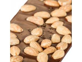 Le Chocolat mléčná s mandlemi a solí 110g
