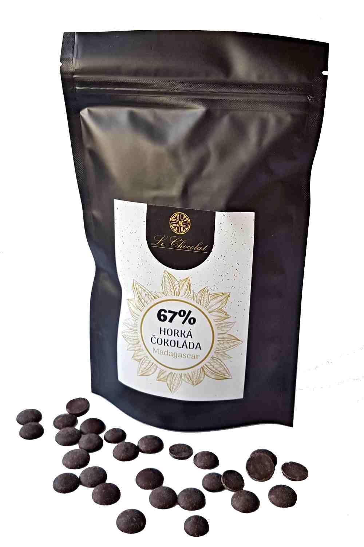 Le Chocolat Madagascar 67% pecičky