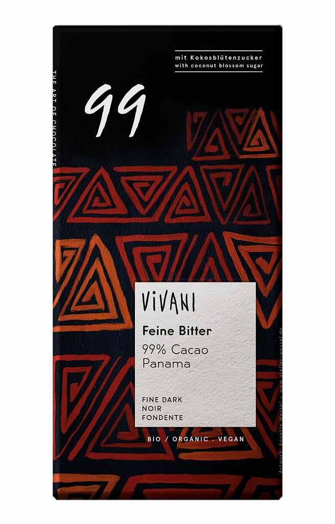 Vivani Bio tmavá čokoláda 99% 80g