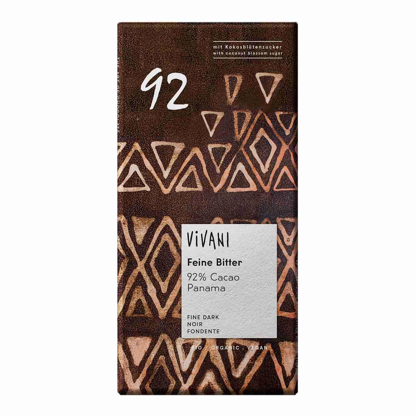 Vivani Bio tmavá čokoláda 92% 80g