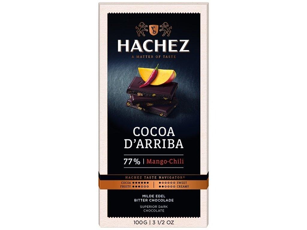 Hachez čokoláda Cocoa d´Arriba mango&chilli 77% 100g