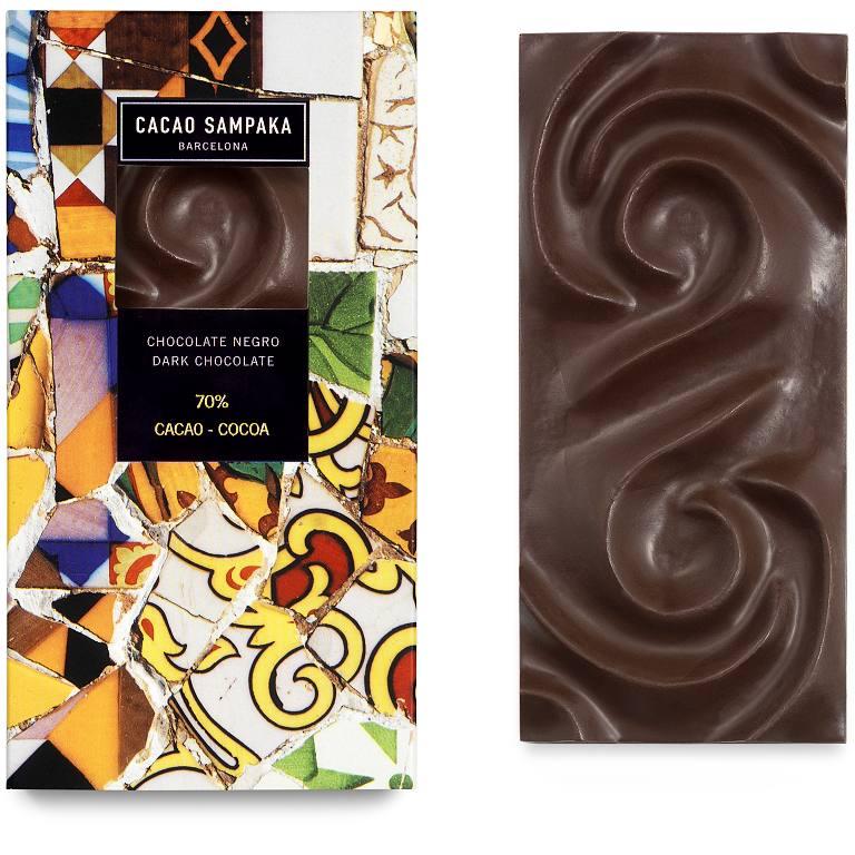 Cacao Sampaka tmavá čokoláda 70% cocoa 75g